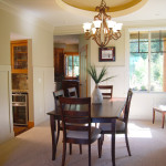 Light and bright formal dining room.