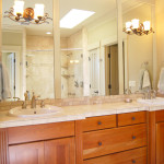 Have your own sink in the master bath.